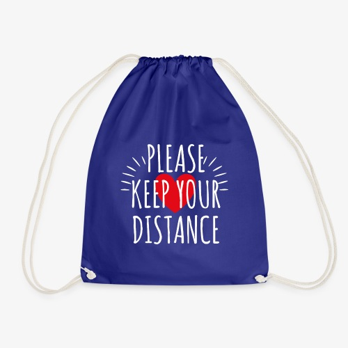 04 Please keep your Distance Heart - Turnbeutel