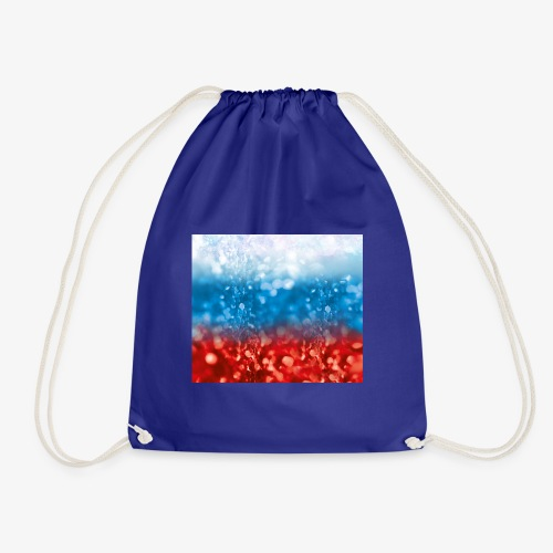 05 Russland Flagge Fahne Glitzer Russia - Turnbeutel