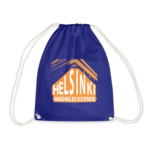 Helsinki2 orange - Drawstring Bag