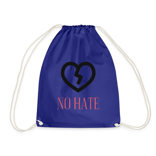 No Hate Logo - Drawstring Bag