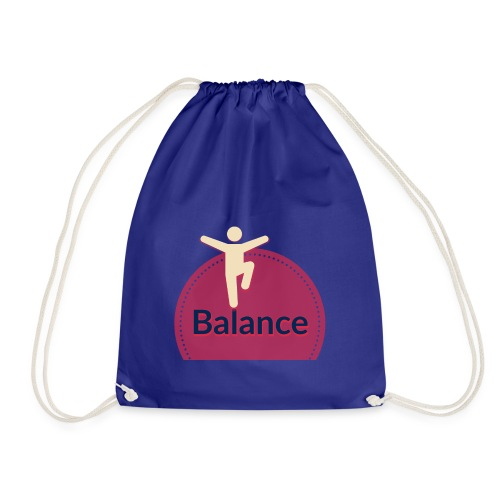 Balance red - Drawstring Bag