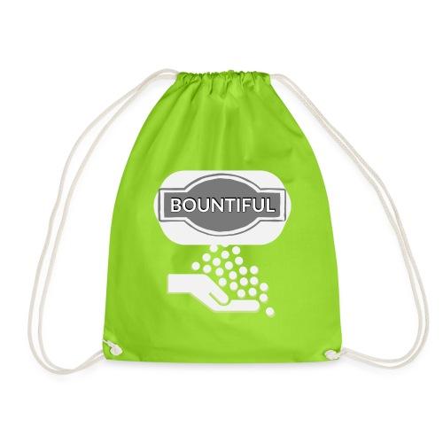 Bontiul gray white - Drawstring Bag