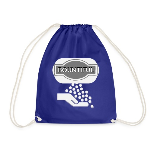 Bontiul gray white - Drawstring Bag