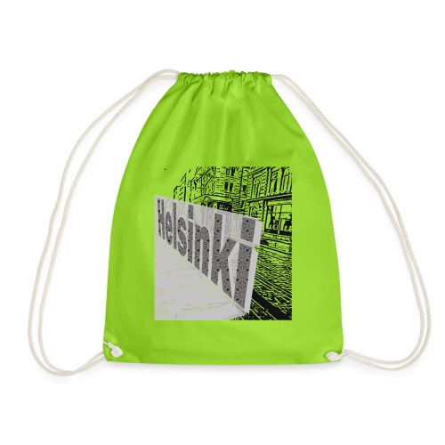 helsinki tram typo - Drawstring Bag