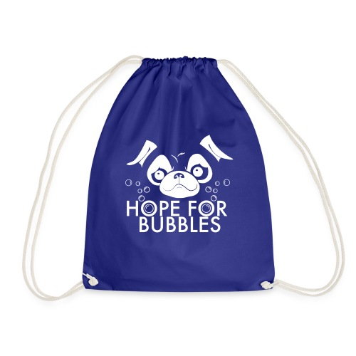 HOPE FOR BUBBLES WHITE MERCH - Gymtas
