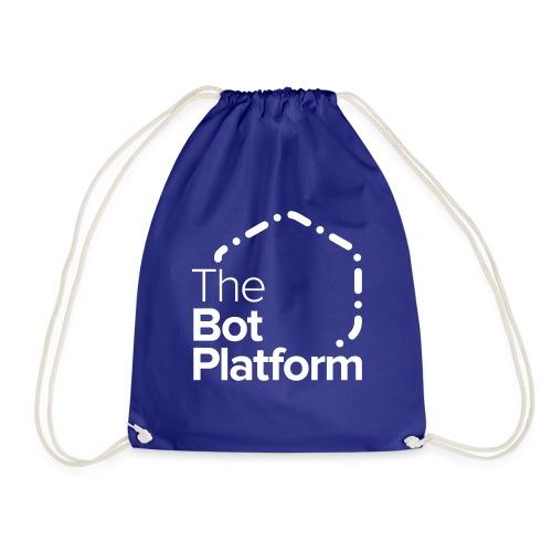 TBP logo white square - Drawstring Bag