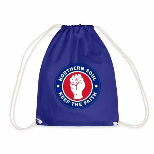 Norther Soul Keep the Faith Logo Union Flag Colour - Drawstring Bag