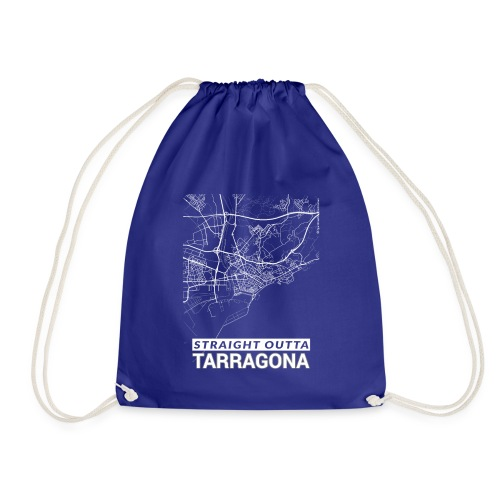 Straight Outta Tarragona city map and streets - Drawstring Bag