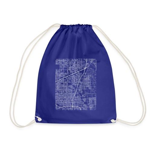 Minimal Allen city map and streets - Drawstring Bag