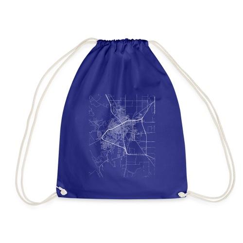Minimal San Angelo city map and streets - Drawstring Bag