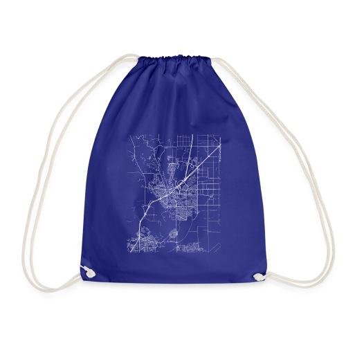 Minimal Vacaville city map and streets - Drawstring Bag