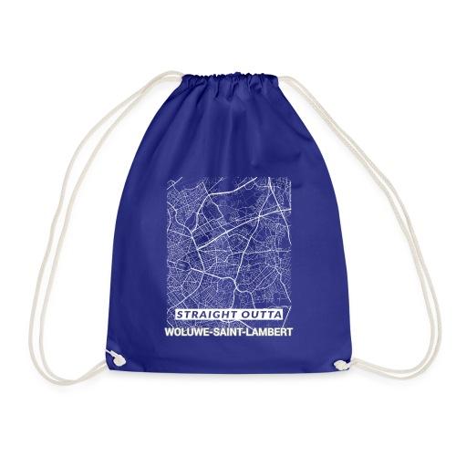 Straight Outta Woluwe-Saint-Lambert city map - Drawstring Bag