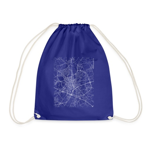 Minimal Ghent city map and streets - Drawstring Bag
