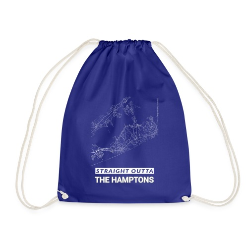Straight Outta The Hamptons city map and streets - Drawstring Bag