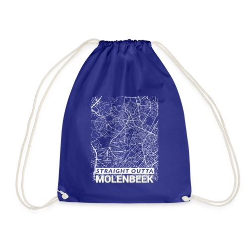 Straight Outta Molenbeek city map and streets - Drawstring Bag