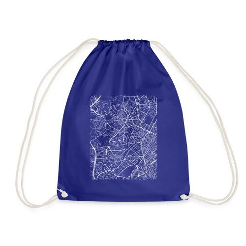 Minimal Molenbeek city map and streets - Drawstring Bag
