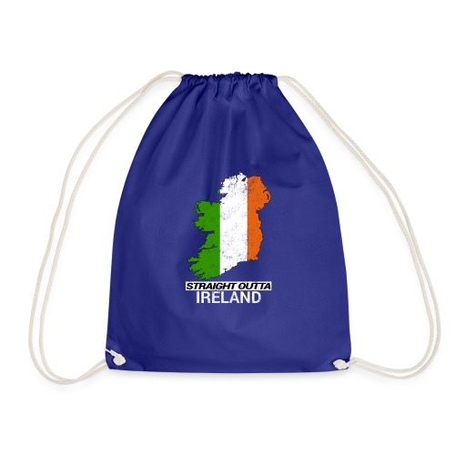 Straight Outta Ireland (Eire) country map flag - Drawstring Bag
