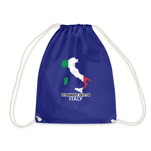 Straight Outta Italy (Italia) country map flag - Drawstring Bag