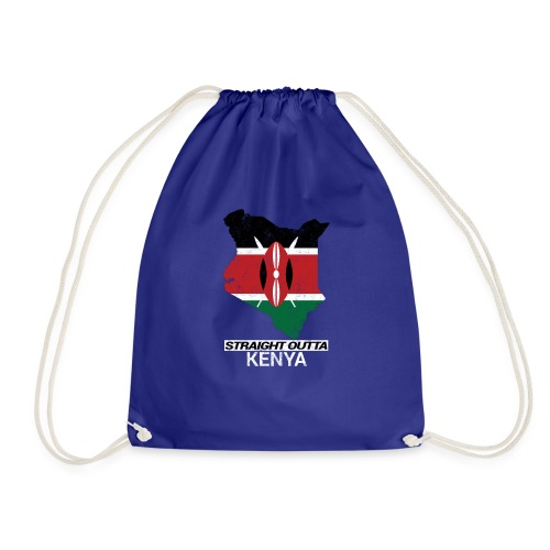Straight Outta Kenya country map & flag - Drawstring Bag