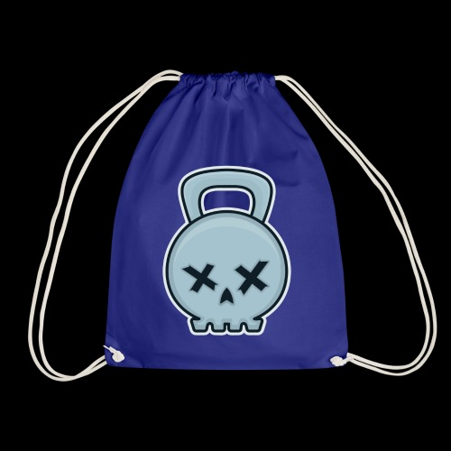 Cool kettlebell skull - Drawstring Bag