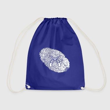 fingerprint dna dns gift sheriff police revo - Drawstring Bag