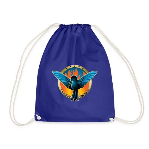 Choose Courage as Fireblue Rebels - Drawstring Bag