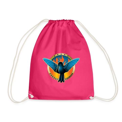 Choose Courage - Fireblue Rebels - Drawstring Bag