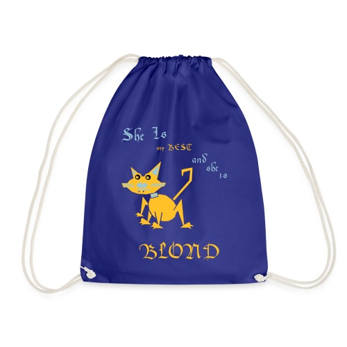 My best cat BLOND - Drawstring Bag