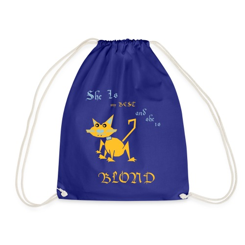 My best cat BLOND - Drawstring Bag