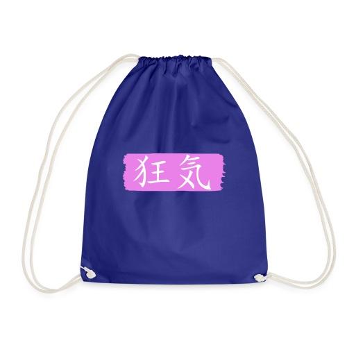 Kanji Giapponese - Follia - Sacca sportiva