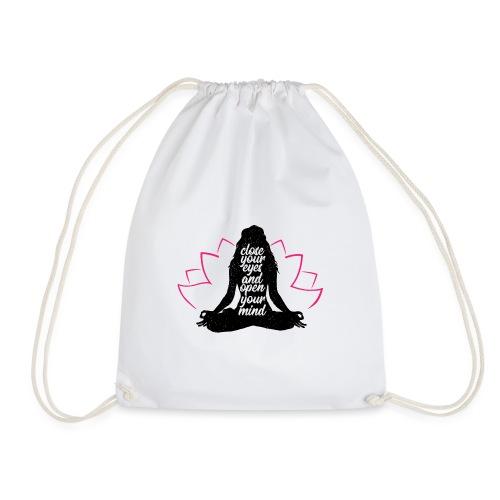 chiudi gli occhi yoga pace amore sport arte - Sacca sportiva