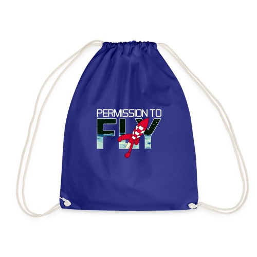 Permission To Fly Rocket - Drawstring Bag