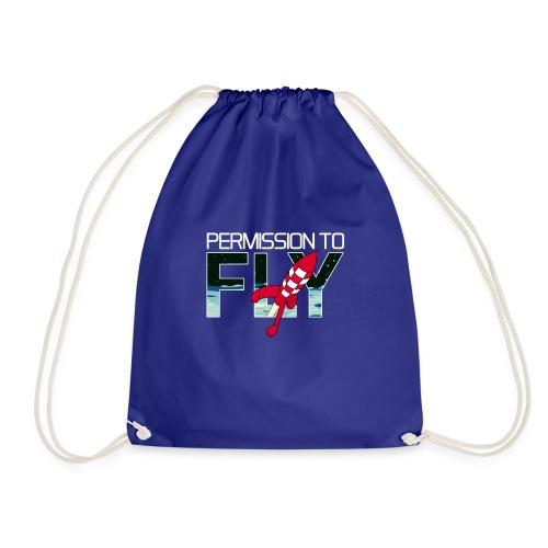 Permission To Fly Rocket - Drawstring Bag