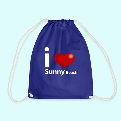 I love Sunny Beach 2 (white print) - Gymtas