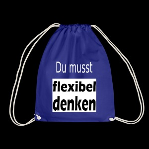 flexibel denken - Turnbeutel