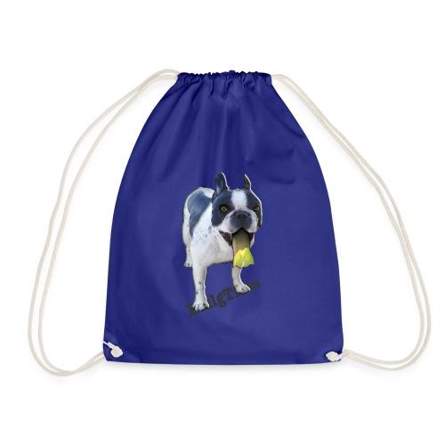 Bulldog francés. BullgTime. Dog yellow mellow - Mochila saco