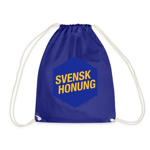 Svensk honung Hexagon Blå/Gul - Gymnastikpåse