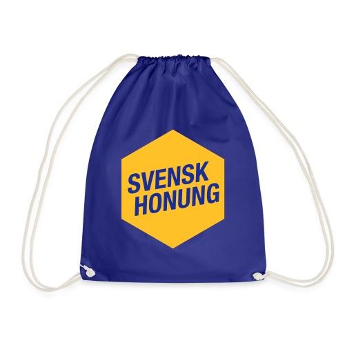 Svensk honung Hexagon Gul/Blå - Gymnastikpåse