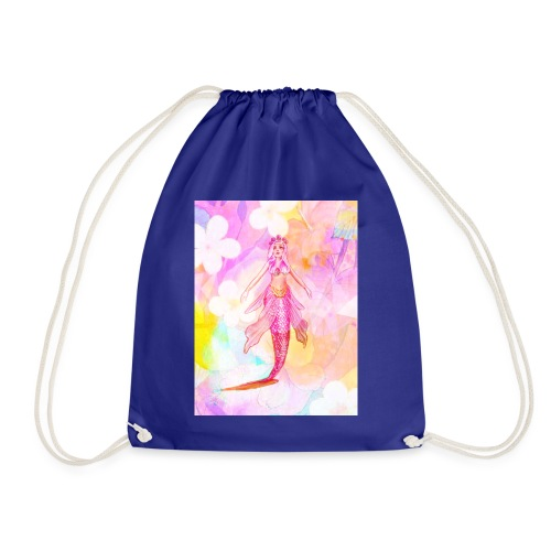 ®La Sirène de Fleurs (The Flower Mermaid) - Drawstring Bag