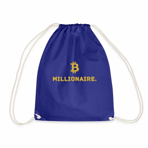 Millionaire. X Bitcoin Millionaire. - Drawstring Bag