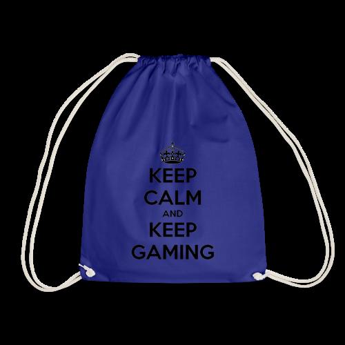 keep calm and keep gaming - Drawstring Bag