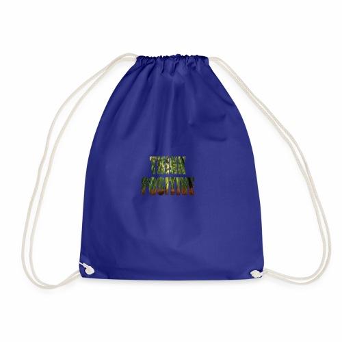 T Shirt White think positive 2018 new no backgroun - Drawstring Bag
