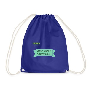 run away from us!!! - Drawstring Bag