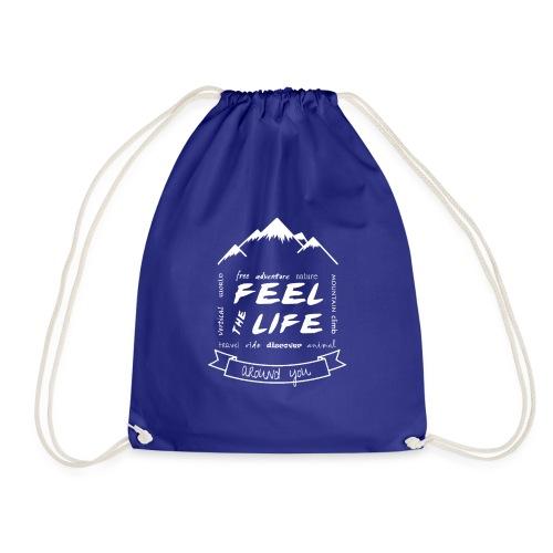 Feel the Life around you - Blanco - Mochila saco