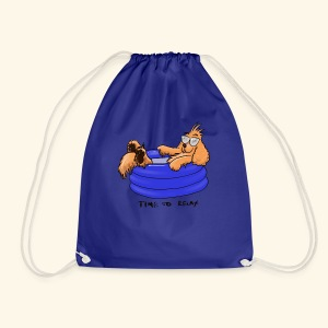 Bernie in the pool - Drawstring Bag
