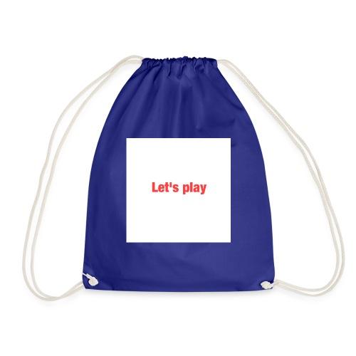Let's play - Drawstring Bag