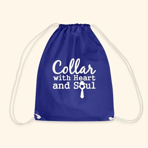 Collar with Heart Soul White Collar Shirts - Drawstring Bag