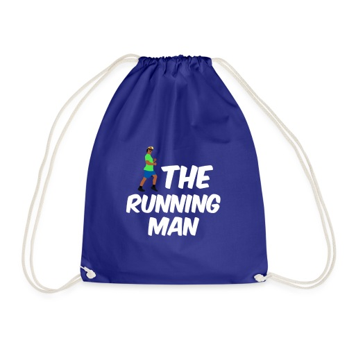 The Running Man Light Blue Shirt White Font - Drawstring Bag