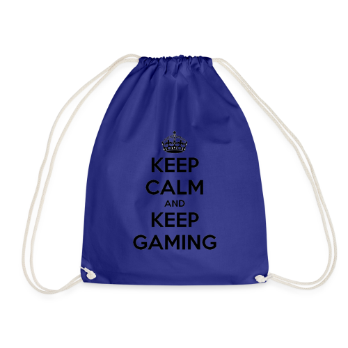 keep calm and keep gaming - Drawstring Bag