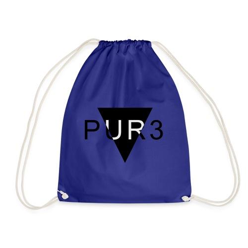 Pur3 grå hettegenser - Gymbag